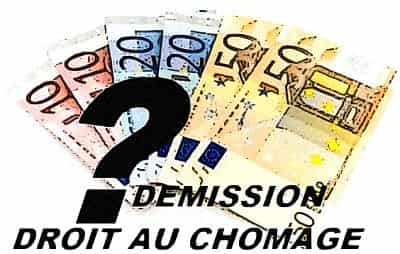 demission droit au chomage